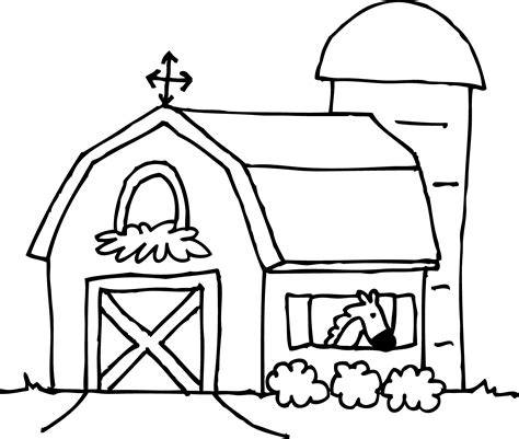 Cute Barn Coloring Page Free Clip Art Barn Coloring Pages Free