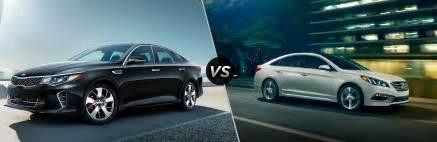 Kia Optima Versus Hyundai Sonata 2017 Kia Optima Vs 2017 Hyundai Sonata