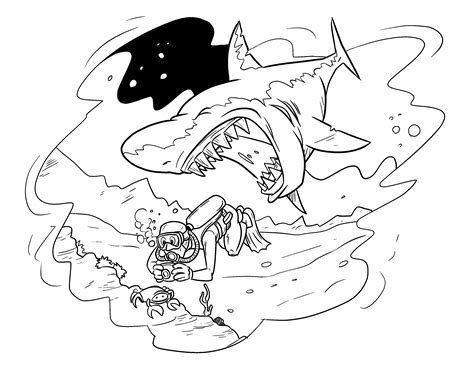 great sheets 7 images of monster shark coloring pages shark with