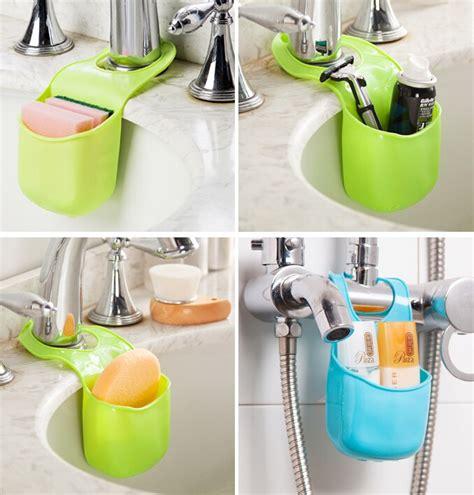 Rak Tempat Sabun Busa Cuci Piring Gantung Kamar Mandii Dapur Green gantungan kran serbaguna dapat dipasang di dapur dan
