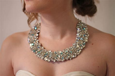 Handcrafted Bridal Jewelry - statement wedding jewelry bridal necklace etsy handmade