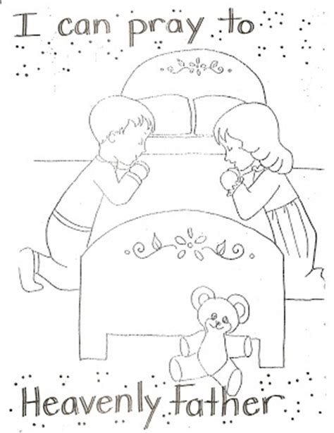 lds coloring pages praying lds coloring pages prayer