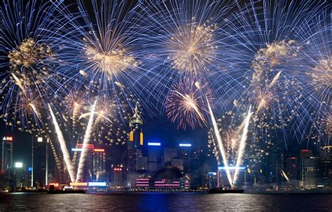new year hong kong fireworks new years fireworks in hong kong 2016