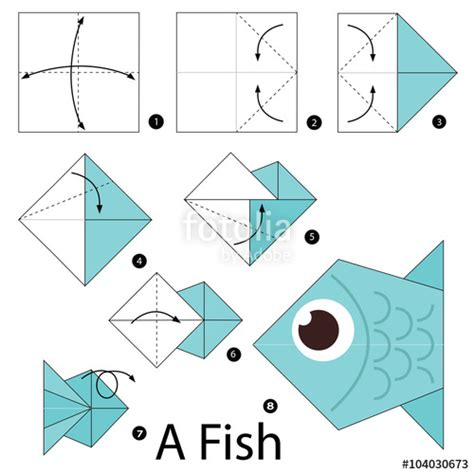 Steps To Do Origami - step by step origami fish comot