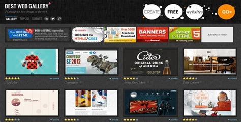 web layout gallery 10 best web design galleries for your design inspiration