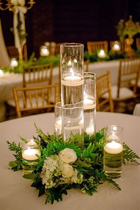 candle table centerpieces best 25 cylinder centerpieces ideas on