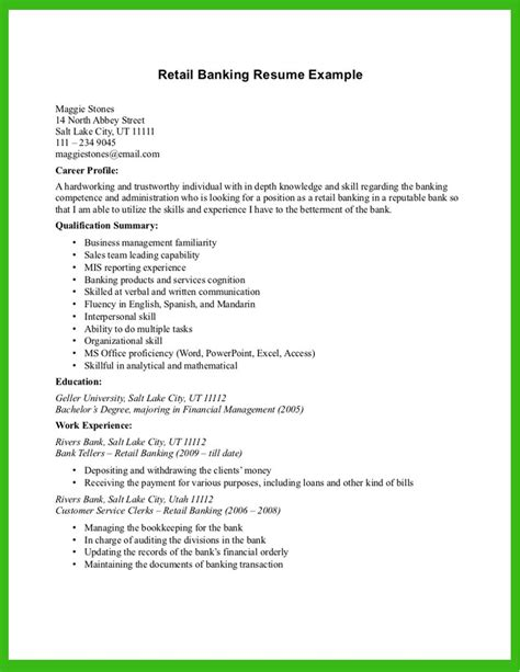 Bank Resume Template by Bank Resume Sle Banking Resume Template Banking