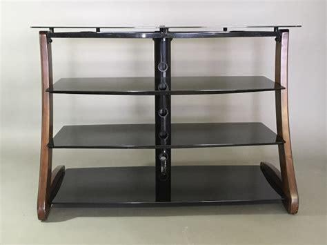 Smoked Shelf by Smoked Glass 4 Shelf Tv Stand