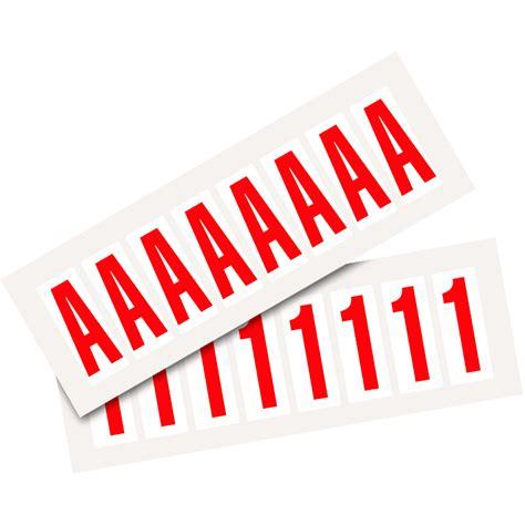 Klebebuchstaben 50mm by Selbstklebende Ziffern Und Buchstaben 50 Mm Wei 223 Rot