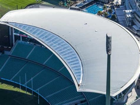 curved roof  scg pavilion achieved  fielders