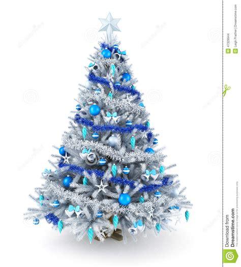 193 rbol de navidad de plata y azul stock de ilustraci 243 n