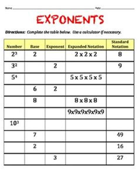 printable exponent games 1000 images about scientific notation exponents unit on