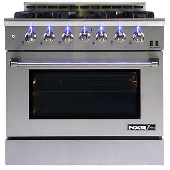 """NXR PRO 36"""" Professional Style GAS Range in Stainless"""
