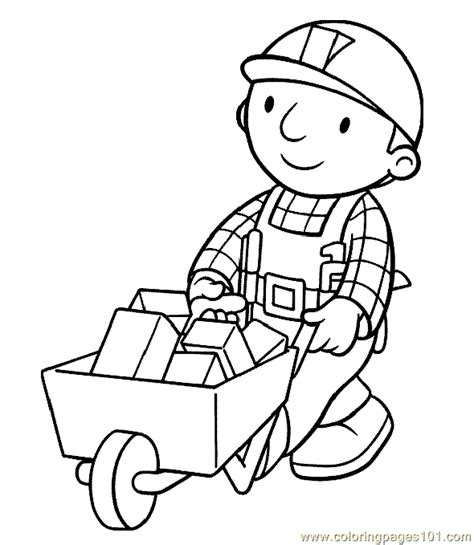 coloring page builder bob the builder coloring page 41 coloring page free bob