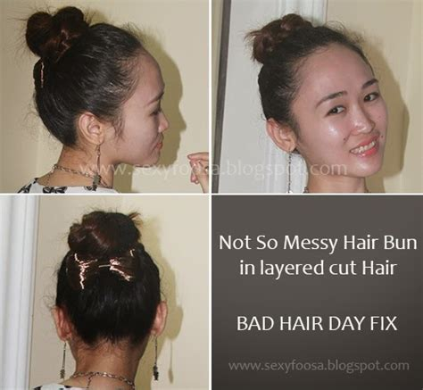 bun hairstyles gone wrong fix straightened rebonded hair bad hair day the sexy foosa