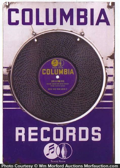 Search Columbia Antique Advertising Columbia Records Sign Antique Advertising