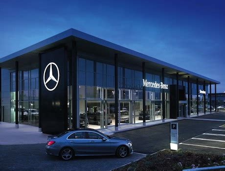 mercedes showroom exterior mercedes sales rise by a digit rate for may