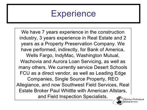 property preservation resume sle writers from arizona