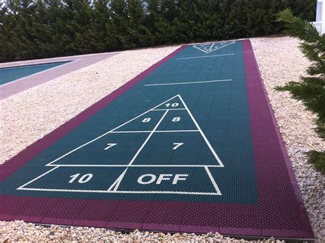 backyard shuffleboard court image gallery outdoor shuffleboard