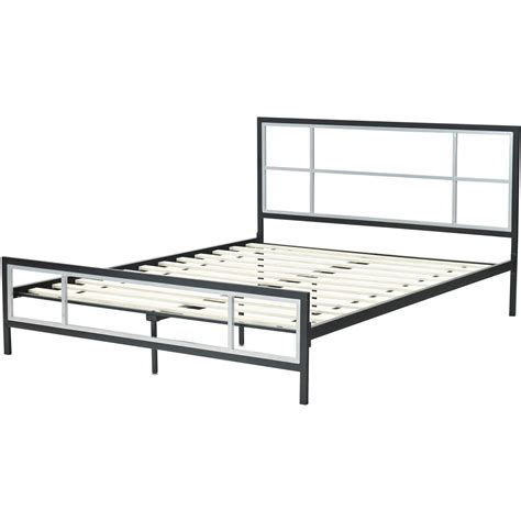 metal bed frames queen lincoln square queen size metal bed frame hbedlinc qn
