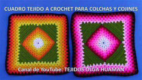 como tejer crochet para colcha en cuadros cuadro tejido a crochet 20 parte 1 para colchas y