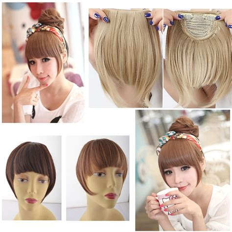 Hair Fringe Styler Clip front hair clip hairstyle clip in synthetic hair bangs