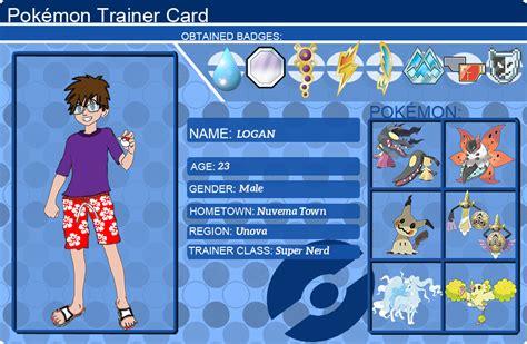 a trainer card trainer card logan by logofanime on deviantart