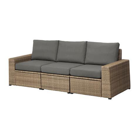 Ikea Falaren Keset Kamar Mandi Warna Abu Abu Medium Ukuran 50x80 Cm soller 214 n sofa 3 dudukan luar ruang cokelat fr 246 s 246 n duvholmen abu abu tua ikea