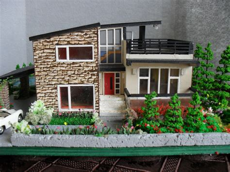 miniature house modern miniature model house with property ho scale