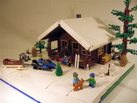 lego log cabin lego ideas log cabin two seasons
