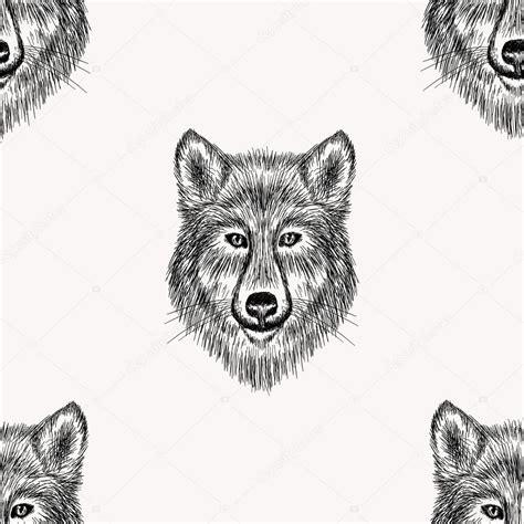 Wolf Pattern Stock | wolf face seamless pattern stock vector 169 i panki 69589833