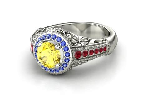 snow white inspired engagement ring by laserenity on