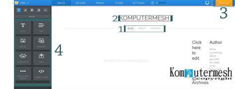 membuat blog website gratis cara membuat website blog gratis di weebly com