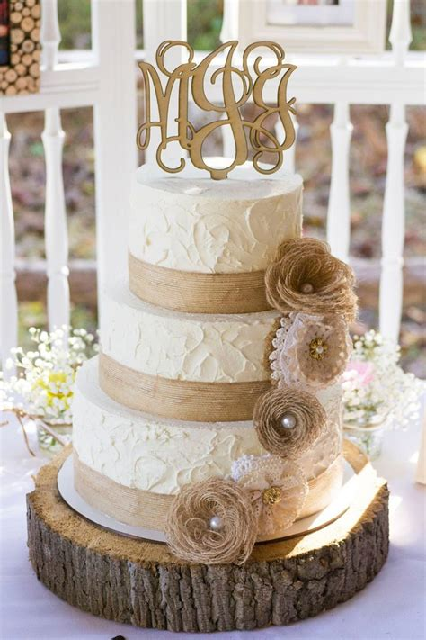 lq designs burlap and lace wedding ideas wedding ideas rustic burlap and lace wedding cake wedding cakes