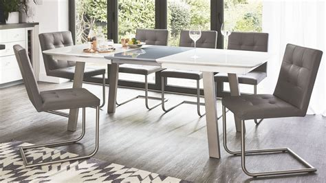 grey and white dining furniture extending white and grey gloss dining table uk