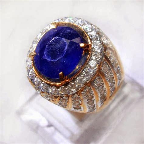 Cincin Batu Akik Biru batu akik borneo biru jenis topaz