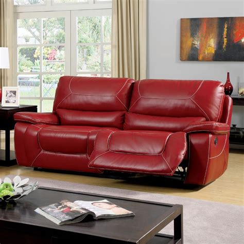 red sectional sofa with recliner sofa with 2 recliners red