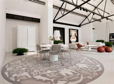 teppiche im wohnzimmer 30 runde teppiche und beispiele wie den zimmer look