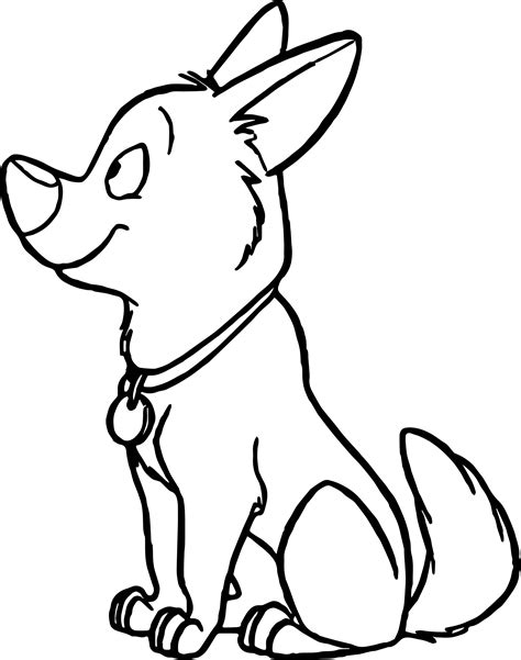 coloring pages of bolt the dog how to draw bolt the dog pictures of bolt the dog