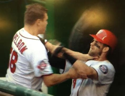 bryce harper tattoo bryce jonathan papelbon fight in nats dugout