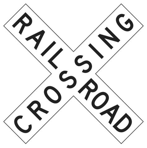 printable railroad signs railroad crossing sign page frames full page signs
