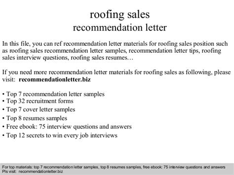 Justification Letter For Office Supplies roofing sales recommendation letter