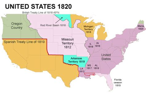 map of us states in 1820 american history part 1 the nation torn apart 1844