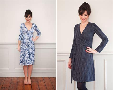 dress pattern knit fabric sew over it intro to knit fabrics ultimate wrap dress