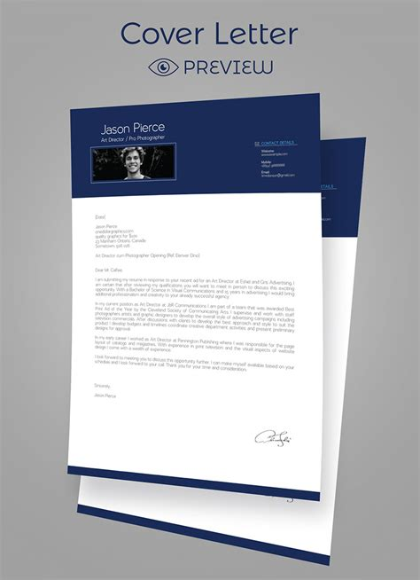 cover letter design template simple premium resume cv design cover letter template