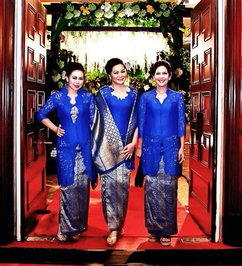Dress Pakaian Terusan Wanita Blue Royal Lace S 345580 131 best images about traditional costume on traditional kebaya and