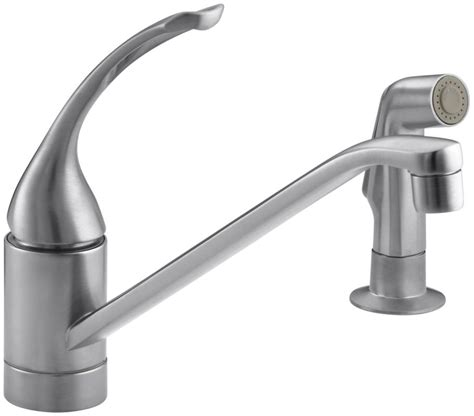 faucet k 15176 fl g in brushed chrome by kohler