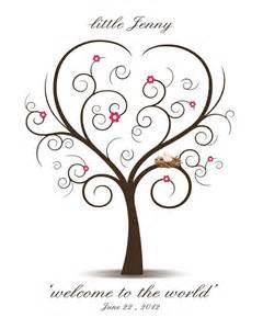 Baby Shower Thumbprint Tree Template by Baby Shower Fingerprint Tree Printable Pdf File