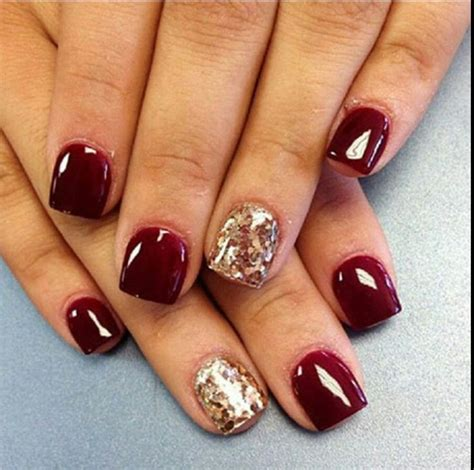 new year nail design 2015 nails burgundy gold glitter nails