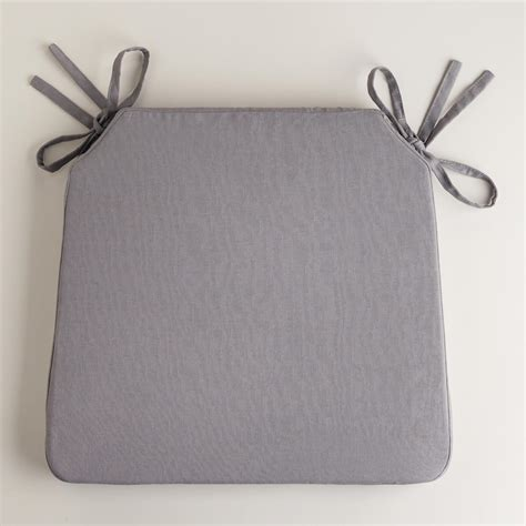 tornado gray bistro chair cushion world market